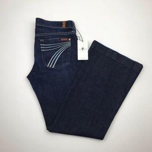 7 for all mankind dojo flare jeans EUC